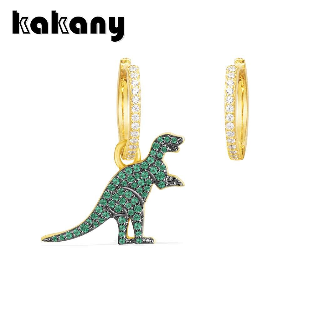 KAKANY Asymmetric Gold Yellow 925 Sterling Silver Mint Green Dinosaur Earrings Moroccan Style Modern Classic Fashion JewelryKAKANY Asymmetric Gold Yellow 925 Sterling Silver Mint Green Dinosaur Earrings Moroccan Style Modern Classic Fashion Jewelry