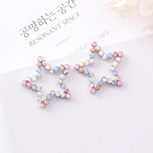 Hollow Rhinestone Star Love  Stud Earrings
