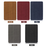 For IPad Mini Retina 100 Original Baseus Brand Sleep Wake Up Fold Stand Leather Case Smart