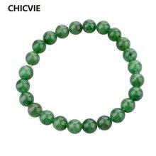 Chicvie новые зеленые мужские браслеты и из натурального камня
