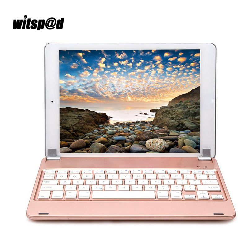 Witsp@d Keyboard For Ipad Air 2 ABS Bluetooth Keyboard Wireless 130 Degree Adjust Socket Keyboards For Pro 9.7 Tablets Stands landas bluetooth keyboard for iphone x power bank keyboard wireless rechargeable with back light keyboards mini for ipad pro 9 7