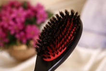 1pcs pack Hair health care styling barber hair brush set massager 100 natural wild boar bristle