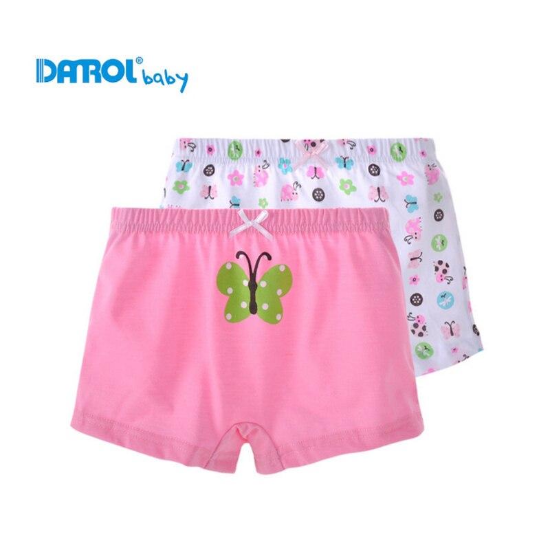 Dívčí spodní prádlo 2 ks / Lot 100% Bavlna Boxerky Kalhotky Děti Kalhotky Krásné Cartoon Kalhotky Dětské spodní prádlo