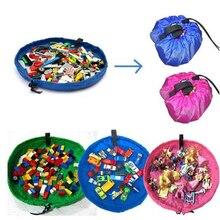 Portable Kids Toy Storage Bag and Play Mat Lego Toys Organizer Drawstring Pouch Fashion Practical Storage Bags
