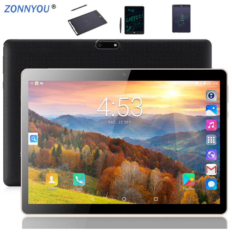 10/1 inch Tablets PC Android 8.0 3G Phone Call Octa Core 4GB/32GB Dual SIM GPS Bluetooth Wi Fi Tablet PC+12 LCD Writing Board