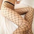 Sexy Lingerie Preta Meias Femininas Meia-calça Moda Sexy Hot Mulheres Sheer Apertado Magro Rendas Líquidas Meias Arrastão # B0
