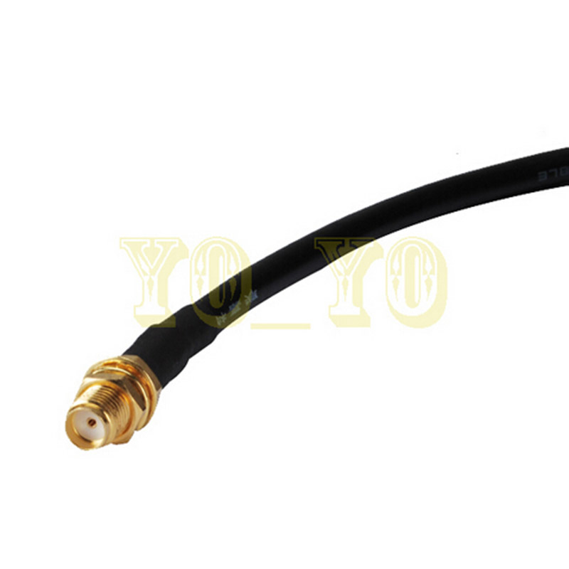 ALLISHOP RF Adapter Connector RP-SMA male to female 5M RF Coaxial Cable LMR195 For WiFi Wireless allishop sma male right angle to rp sma female jack rp adapter connector rf coaxial pigtail cable connector rg316 15m