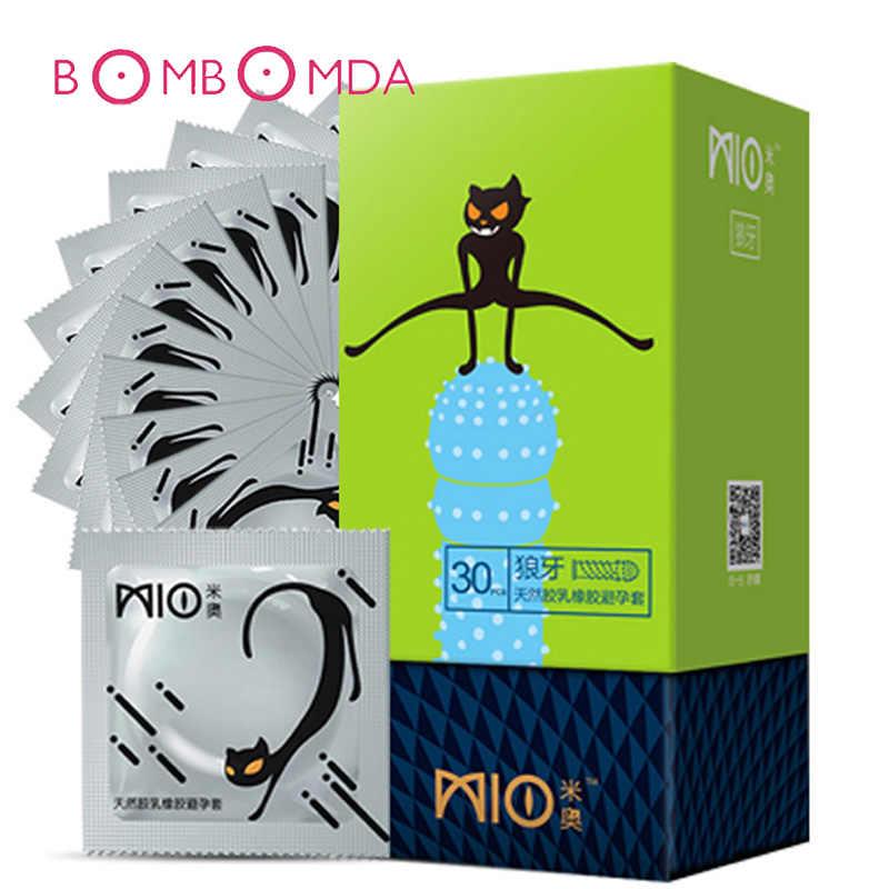 Mio 30 Pcs/lot Ultra Tipis Kondom Karet Lateks Alam Kondom untuk Pria Penis Lengan Alat Dewasa Halus Pelumas Kondom