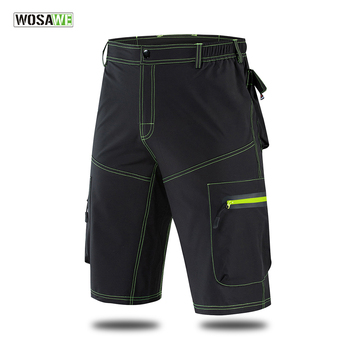 цена на WOSAWE Men's MTB Shorts Mountain Downhill Bike Shorts Loose Fit Outdoor Sports Running Bicycle bermuda ciclismo Cycling Shorts