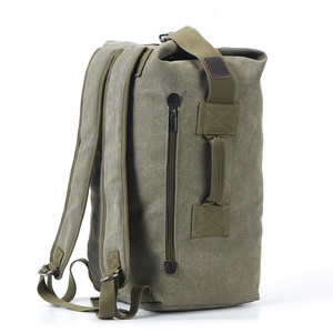 Image 2 - 대용량 배낭 남자 여행 가방 등산 배낭 남자 짐 캔버스 양동이 어깨 가방 남자 배낭