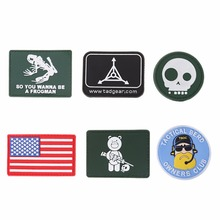 3D PVC Rubber Badge Tactical Morale Armband Backpack Clothing Badge Soft Patch