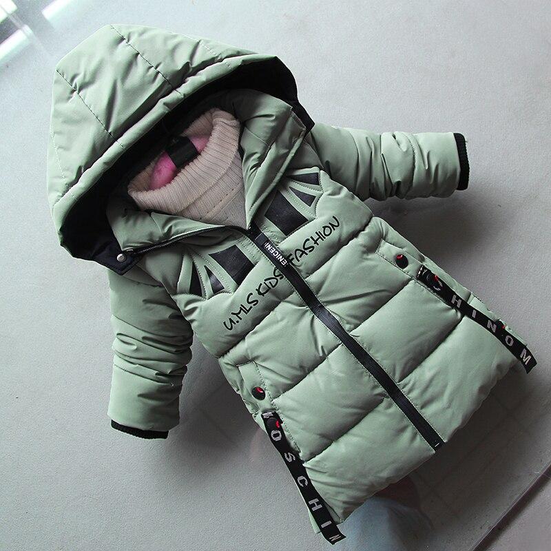 BibiCola garçons vestes hiver enfants mode enfants épaissir longues vestes manteau garçons enfants coartoon hoodies chaud vêtements manteaux