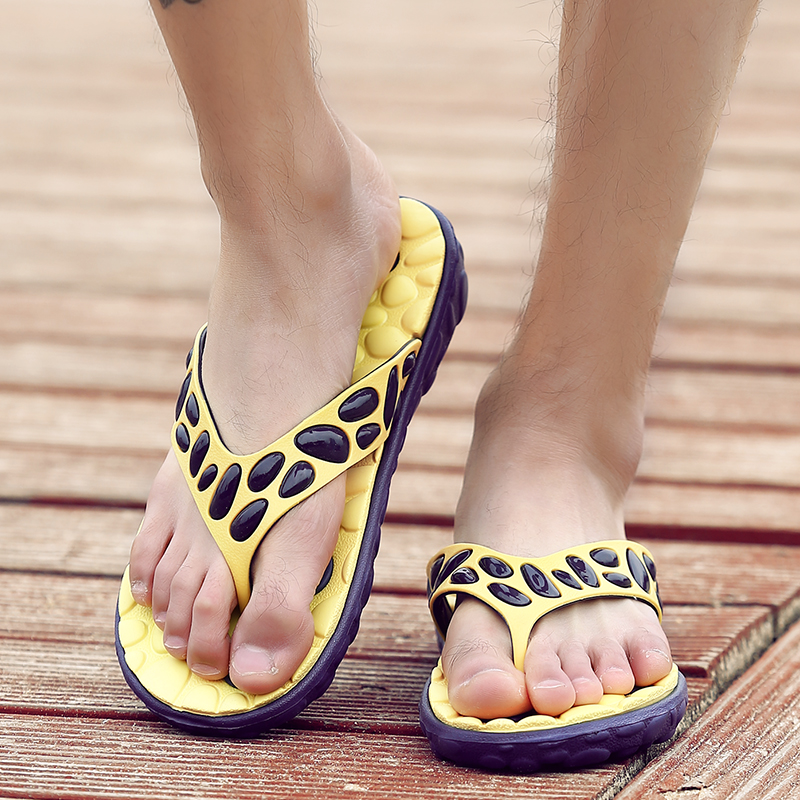 In summer font b men s b font slippers font b shoes b font beach font