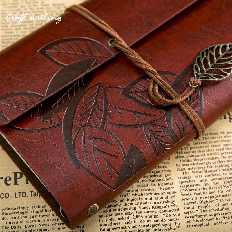 In pelle journalHot salenote libro Planner vintage carta kraft bianco viaggiatore sketchbook diario A5 nota libro può essere engraved530