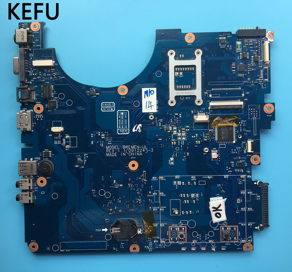 KEFU free delivery BA92 07719A BA92 07719B Laptop Motherboard For Samsung NP R530 R530 BREMEN UL