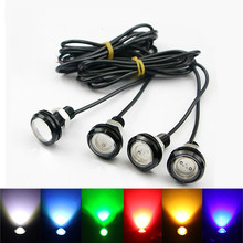 цена на 18/23 MM Car Eagle Eye DRL Led Daytime Running Lights LED 12V Backup Reversing Parking Signal Automobiles Lamps DRL Car styling
