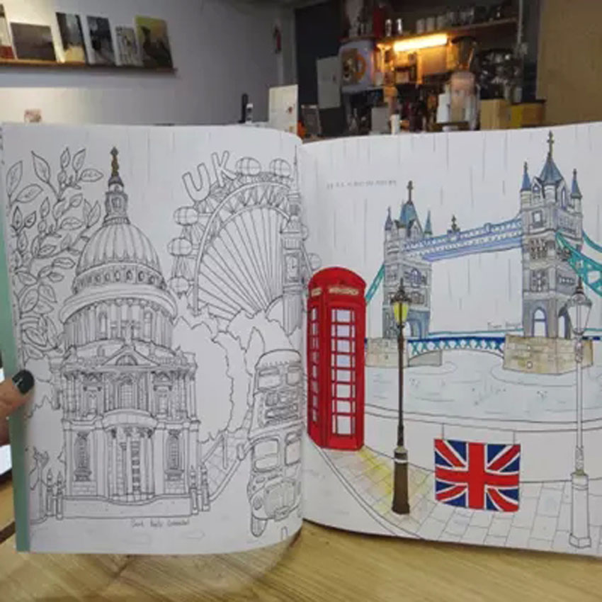Dream Of Travelers Around The World Coloring Book Graffiti Painted ...