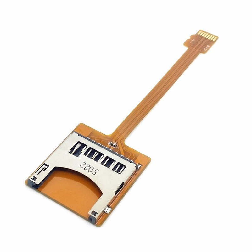 Free Shipping tracking number Micro SD TF Memory Card Kit Male to SD Female Extension Soft Flat FPC Cable Extender 10cm micro sd tf memory card kit male to sd female extension soft flat fpc cable extender 10cm