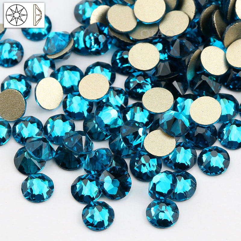 QIAO SS16 SS20 Crystal Glass Rhinestone For Clothes 2088 Malachite Blue  Color Non hot fix Flatback Rhinestones For Nail-in Rhinestones from Home    Garden on ... b955294f0aff