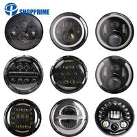 45W 7'' Led Headlight H4 High Low Beam Round Cars Running Lights for Jeep Lada Niva 4x4