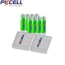 8 шт. PKCELL NiMH aa перезаряжаемый аккумулятор, предзаряженные LSD aa батареи 600 мАч для игрушек камеры 1200 циклов и 2 шт. чехол