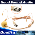 Flesh Color XLR 3 Pin Connector Headworn Earhook Headset Microphone Head Mic Microfone For Samson Wireless BodyPack Transmitter