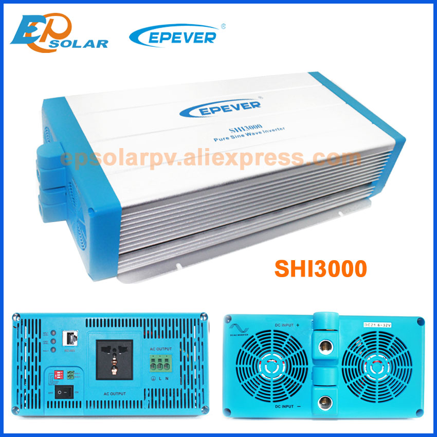 цена на Free Shipping EPEVER Inverter,SHI3000 3000W invertor DC 24V/48V input to AC output 220V with EU/AU socket,pure sine wave