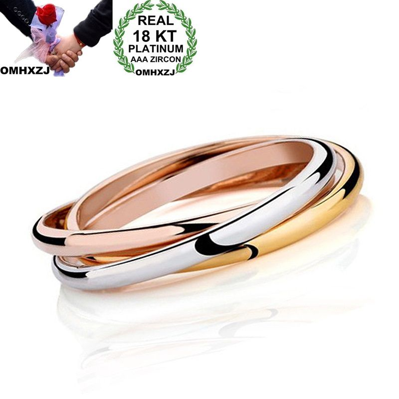 OMHXZJ Wholesale Personality Fashion OL Woman Girl Party Gift Three Colors 18KT Gold Silver Rose Gold Cuff Bangle Bracelet BR168OMHXZJ Wholesale Personality Fashion OL Woman Girl Party Gift Three Colors 18KT Gold Silver Rose Gold Cuff Bangle Bracelet BR168