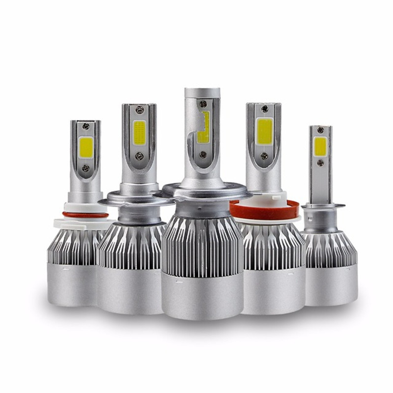 цены 2Pcs 80W 8000LM Led Car Headlight H4 H7 Led H1 H8 H9 H11 Auto Bulbs 9005 9006 Super Bright Headlamp Fog Light 12V 24V 6000K