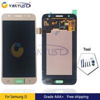 100 Tested Original Super Amoled LCD Screen Touch Digitizer Assembly For Samsung J5 J500 Lcd Display