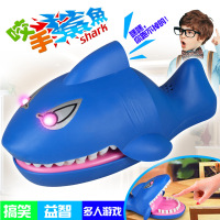 Electric Big Shark Light Sound toy Large Shark Mouth Dentist Bite Finger Game Funny Novelty Gag Toy for Kids Children