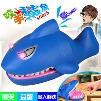 Electric Big Shark Light Sound toy Large Shark Mouth Dentist Bite Finger Game Funny Novelty Gag Toy for Kids Children