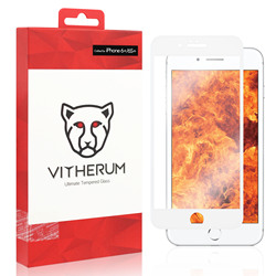 RUBY-ostateczny odporność na szkło hartowane dla iPhone 6 +/6S + (biała ramka)