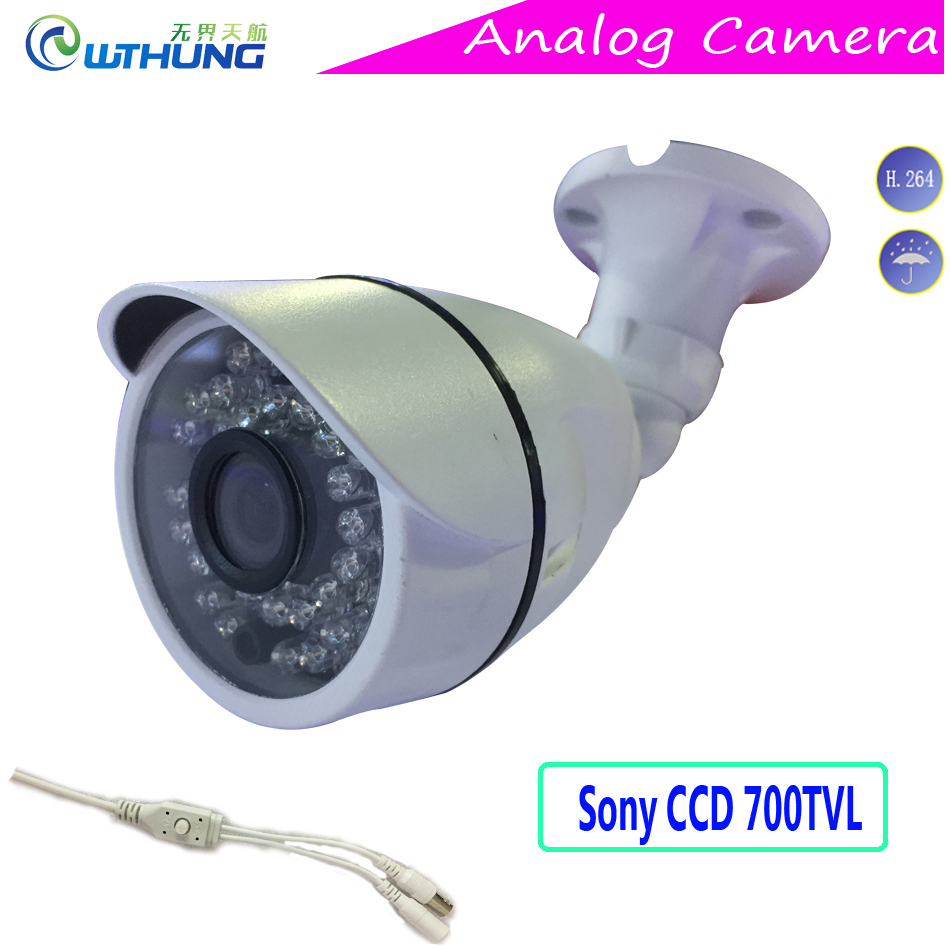 CCTV analog Camera Sony811 CCD 700TVL  Day/Night Vision Outdoor Metal Case IP66 Waterproof Bullet Camera for cctv montior system wistino white color metal camera housing outdoor use waterproof bullet casing for cctv camera ip camera hot sale cover case