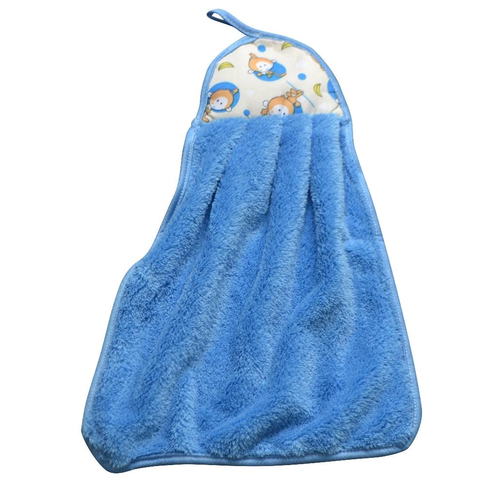Knitted Flocking Microfiber Hand Towel Beach Hanging Kitchen Bath ...