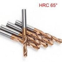 HRC65 Derece büküm Matkap Ucu 1.0 9.0mm Katı Karbür Çekirdek matkap uçları Sert Metal Delme Araçları 3D Tüm Tungsten Çelik matkap|Matkap Uçları|   -