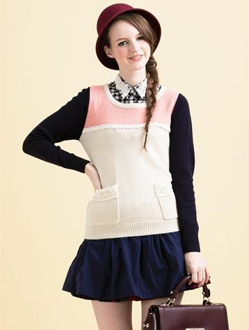 Korea blouse fake collar handmade beaded Original plaid lace female Korean retro fake shirt necklace accessaries
