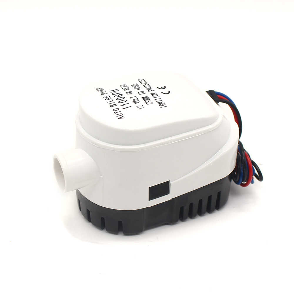 DC 12V/24V 1100GPH submersible water pump 12V,Automatic boat ... on
