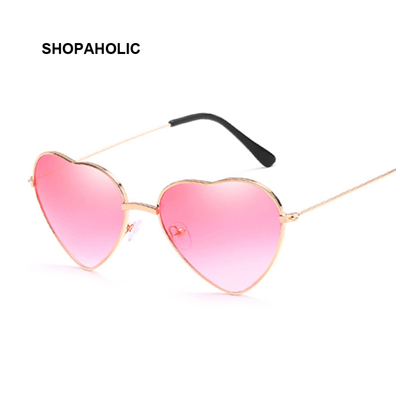 Ladies Heart Shaped Sunglasses Women Brand Designer Fashion LOVE Clear Ocean Lenses Pink Sun Glasses Female Oculos UV400