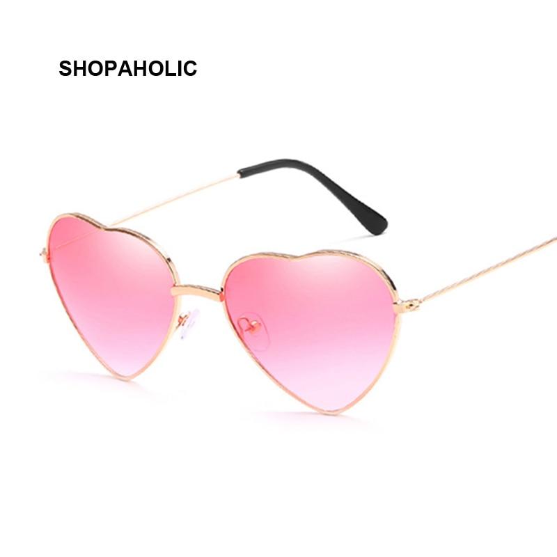 Ladies Heart Shaped Sunglasses Women Brand Designer Fashion LOVE Clear Ocean Lenses Pink Sun Glasses Female Oculos UV400