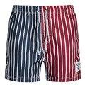 Летний Новый мужские свободные личности заклинание цвет шорты мужские модный бренд пляжные шорты Купальник шорты полоса