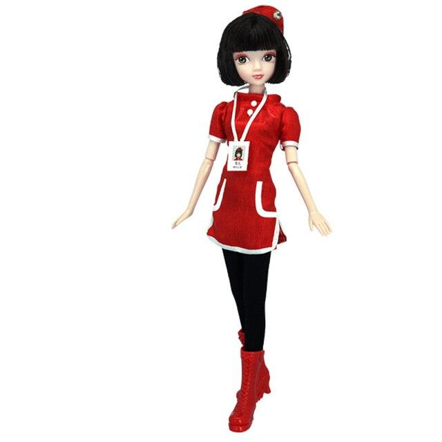 13 articulations mobiles 1/6 3D yeux BJD poupée jouets avec accessoires vêtements chaussures sac chapeau mode Figure Nake poupées jouet pour filles cadeau