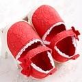 Primavera verão Rendas Arco crianças Berço CotooNewborn Tênis Casuais Sapatos Mocassins Infantis Da Criança Do Bebê Da Menina Chinelos de Sola Dura