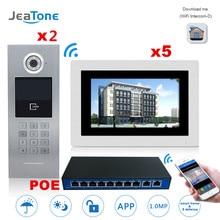 JEATONE Touch Screen IP Video Door Phone Intercom