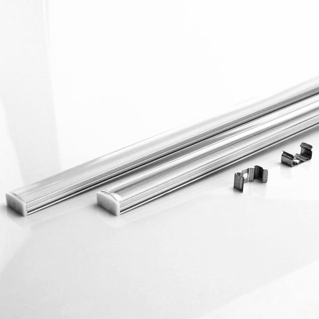 10-20 pièces DHL 1 m LED bande en aluminium profil pour 5050 5730 LED barre dure lumière barre de LED en aluminium canal logement avec couvercle d'extrémité