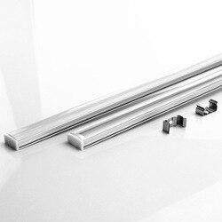 10-20 unids DHL 1 M tira de LED perfil de aluminio para 5050 de 5730 LED duro Barra de luz led Barra de canal de aluminio de vivienda withcover cubierta final