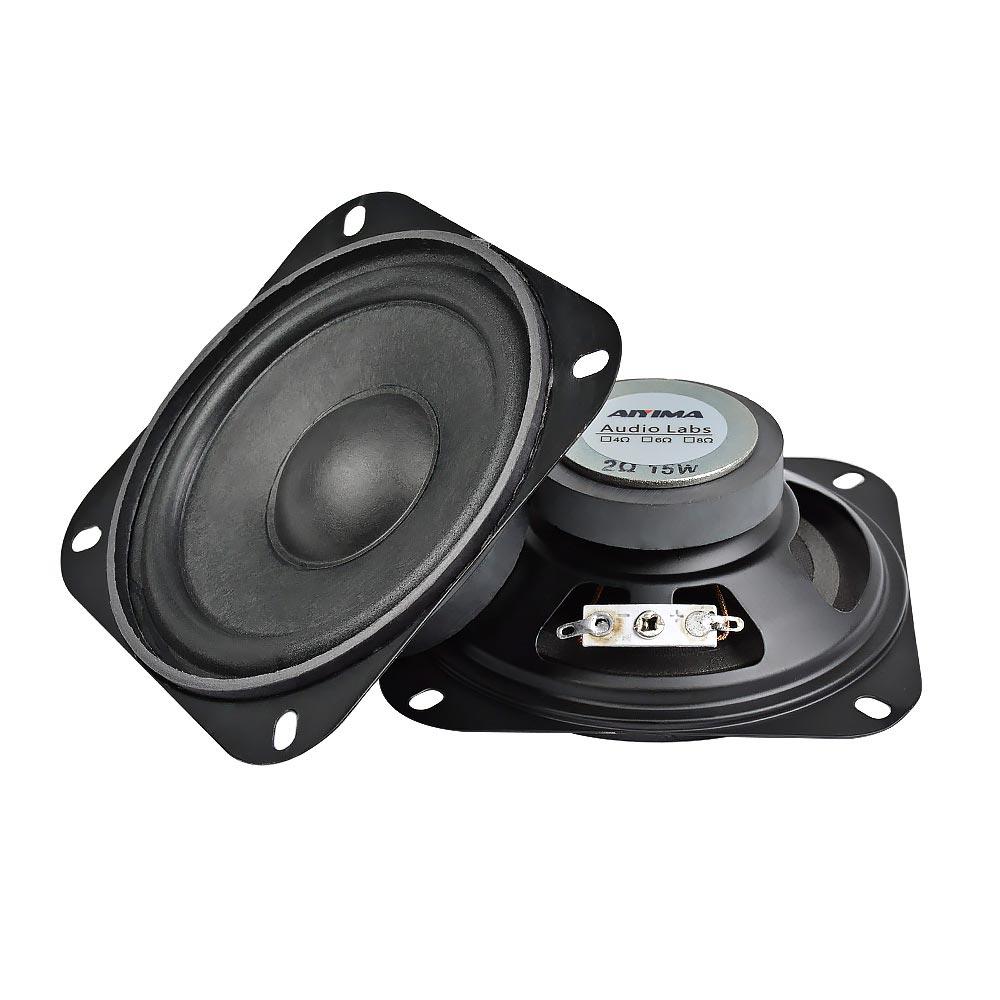 AIYIMA 2 sztuk 4 Cal 2Ohm 10W przenośny głośnik audio Subwoofer DIY nagłośnienie kina domowego dla głośnika Bluetooth głośnik