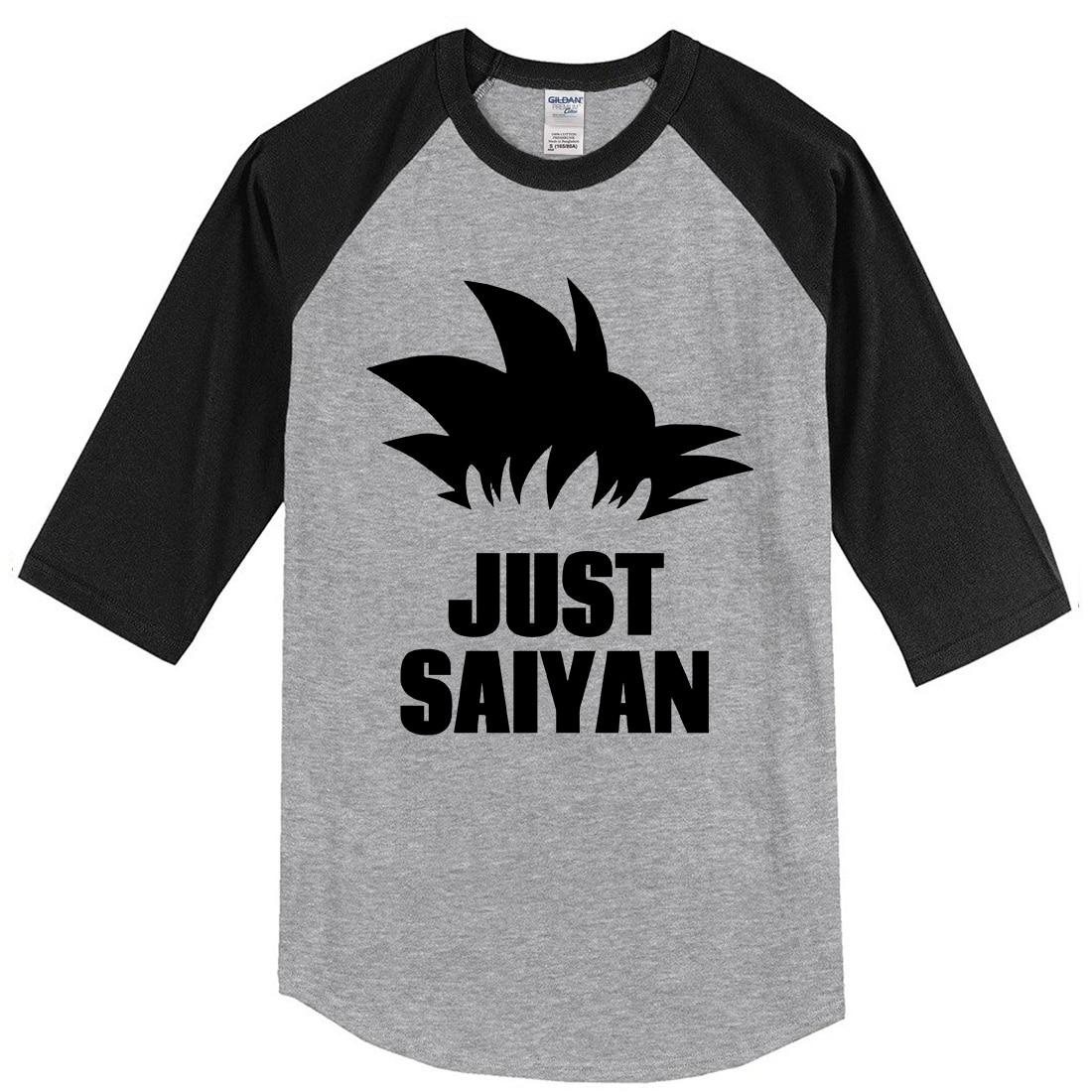 Dragon Ball Z Men T Shirt 2019 Spring Summer Fashion Cotton Shirt JUST SAIYAN Anime Man's T-shirt Streetwear Top Casual Tshirt