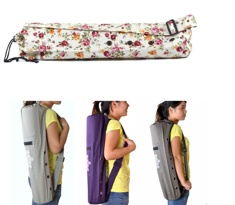 68x17cm Canvas Practical <font><b>Yoga</b></font> Pilates Mat Bag Carry Strap Drawstring Exercise Gym Fitness Backpack For Under 10mm Thick Mat