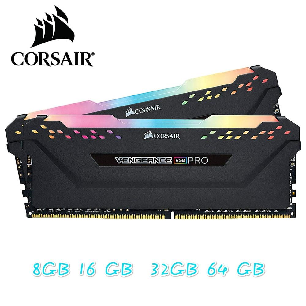 CORSAIR RGB PRO DDR4 8GB 3000MHz DIMM Desktop Memória RAM Apoio Motherboard 8g 16g ddr4 3000 mhz rgb 16gb 32 ram gb